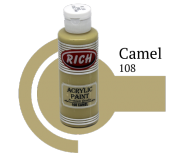 Rich 108 Camel 130 Ml Akrilik Boya
