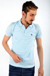 Polo Yaka Açık Mavi Tshirt