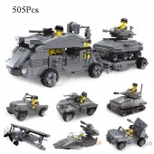 Tıgoes 23058 6ın1 Lego Seti Warm26 Transporter 505 Parça
