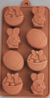 Silikon Yumurta Tavşan Çikolata Kalıbı (1267) 8li