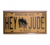 The Beatles Hey Jude Kabartma 15x30 Metal Plaka Metal Tablo