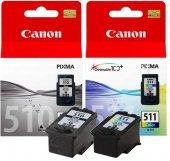 Canon Pg510bk+cl511 2li Kartuş (Canon Mp240 Mp260)