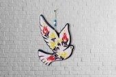 Dekoratif Uçan Kuş Duvar Aksesuarı Motifli Kuş Duvar Süsü