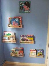 Ceebebek Ahşap Duvar Raf Bebek Çocuk Odası Montessori Kitaplık 5nat40cm Ücretsiz Kargo