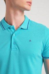 Avva Erkek Polo Yaka T Shirt Mavi