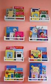 Ceebebek Ahşap Duvar Raf Bebek Çocuk Odası Montessori Beyaz Kitaplık 8byz40 Ücretsiz Kargo