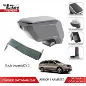 Bylizard Dacia Logan Mcv 2 Delmesiz Çelik Ayaklı Armor 2 Kolçak Kol Dayama Gri