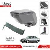 Bylizard Honda Civic 1995 2000 Delmesiz Çelik Ayaklı Armor 2 Kolçak Kol Dayama Gri