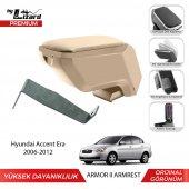 Bylizard Hyundai Accent Era 2006 2012 Delmesiz Çelik Ayaklı Armor 2 Kolçak Kol Dayama Bej