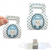 100lü Hoşgeldin Bebeğim Tutmalı Karton Kutu 8cm