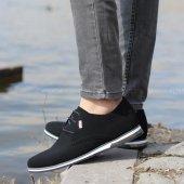 Conteyner 211 Nubuk Siyah Casual Erkek Ayakkabı