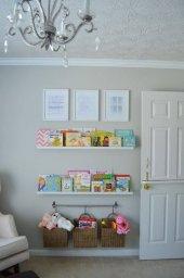 Ceebebek Ahşap Duvar Raf Bebek Çocuk Odası Montessori Beyaz Kitaplık 2byzl80 Ücretsiz Kargo