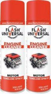 2 Li Set Flash Universal Motor Temizleme Spreyi 500 Ml