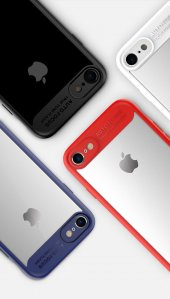 Iphone 7 8 Plus Ultra İnce Darbe Emici Tpu + Pc Kılıf