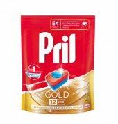 Pril Gold Bulaşık Makinesi Tableti 12 Etkili 54 Adet