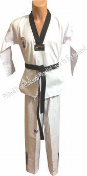 Siyah Yaka Taekwondo Elbisesi Siyah Kemer Hediyeli