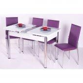 Evform Favorite 4 Sandalyeli Açılır Mutfak Masa Sandalye Takımı