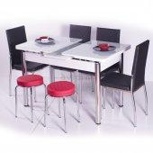 Mutfak Masası Masa Sandalye Takımı Camlı Açılır Masa