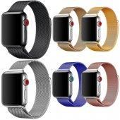 Apple Watch Hasır Çelik Kordon 38mm Milano Loop Mıknatıslı