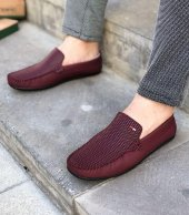 Lfg Bordo Renk Damla Desenli Günlük Ayakkabı