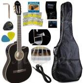 Elektro Klasik Gitar Hidalgo Mh860 Bk 5 Band Tunerli Eq