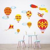 Dekor Loft Şampiyon Uçan Balonlar Çocuk Odası Duvar Sticker Cs 62