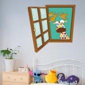 Dekorloft Çocuk Odası Pencere Sticker Pnc 804