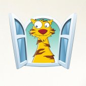 Dekorloft Çocuk Odası Pencere Sticker Pnc 817