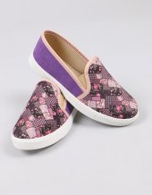 Desenli Kumaş Sneakers Kadın Ayakkabı
