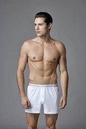 Eros Erkek 2li Penye Boxer Beyaz Es011525by