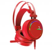 Gamepower Luna 7.1 Mıkrofonlu Rgb Gamıng Usb Kırmızı Kulaklık