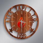 Firmalara Özel Logolu Ahşap Promosyon Duvar Saati (10 50 100 Adet) A4