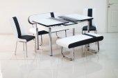 Mutfak Masasi 2 Bank + 2 Sandalye + Açılır Masa