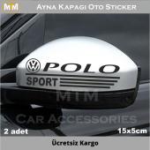 Volkswagen Polo Ayna Oto Sticker (2 Adet)