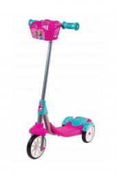 Barbie 3 Tekerlekli Çocuk Scooter Frenli Sepetli Kız Modeli