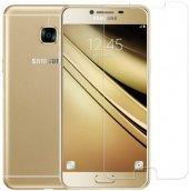 Samsung Galaxy C7 Temperli Kırılmaz Cam Ekran Koruyucu
