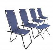 Romee Katlanır Kamp Ve Piknik Sandalyesi 4 Adet + Sehpa