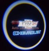 Chevrolet Araçlar İçin Pilli Yapıştırmalı Kapı Altı Led Logo
