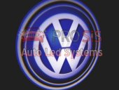 Volkswagen Araçlar İçin Pilli Yapıştırmalı Kapı Altı Led Logo
