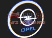Opel Araçlar İçin Pilli Yapıştırmalı Kapı Altı Led Logo