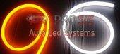 Flexible Neon Çift Kanallı Led 45cm Beyaz Sarı Sinyal Modüllü