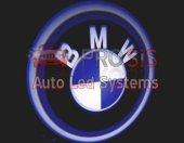 Bmw Araçlar İçin Pilli Yapıştırmalı Kapı Altı Led Logo