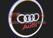 Auid Araçlar İçin Pilli Yapıştırmalı Kapı Altı Led Logo