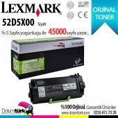 Lexmark 525x 52d5x00 Ms711 Ms811 Ms812 Oriijinal Toner 45.000 Sayfalık.