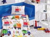 Cotton Box Ranforce Bebek Uyku Seti Şantiye Mavi