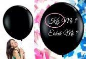 Cinsiyet Balonu Kız Bebek İçin Siyah Balon Jumbo