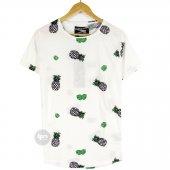 Fullstop Etnik Desen Ananas Unisex T Shirt Tişört