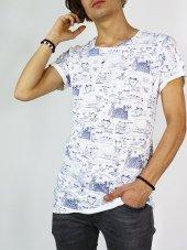 Full Baskı Etnik Desen Erkek T Shirt Bpm Tişört