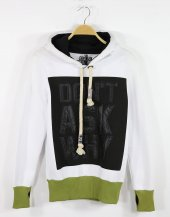 Eighteen Plus Sweatshirt 3 İplik Parmak Geçmeli Kapüşonlu