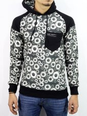 Bpm Plus Kapşonlu Erkek Sweatshirt Dijital 3 İplik Pamuk